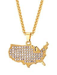 baratos -Colares com Pendentes - Fashion Preto, Prata, Ouro Rose 55 cm Colar Para Diário