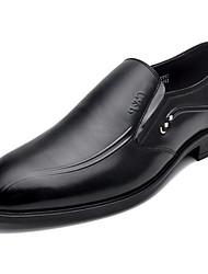 cheap -Men's Cowhide Winter Comfort Loafers & Slip-Ons Black / Brown