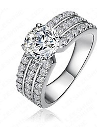 cheap -Cubic Zirconia Band Ring - Copper Snowflake Classic, Fashion 6 / 7 / 8 Silver For Engagement / Daily