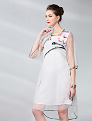 cheap -Proverb Women's Silk Shift Dress - Solid Colored / Floral