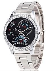 Недорогие -Жен. Наручные часы Китайский Секундомер / Имитация Алмазный / Крупный циферблат сплав Группа Роскошь / Мода Серебристый металл / SSUO LR626