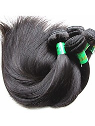 cheap -Indian Hair / Bundles Straight Virgin Human Hair / Remy Human Hair Human Hair Extensions 10 Bundles Human Hair Weaves Soft / Smooth / For Black Women Natural Black Human Hair Extensions Women's