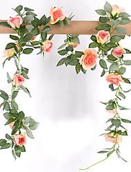 Недорогие -Искусственные Цветы 1 Филиал Стиль / Деревня Розы Цветы на стену