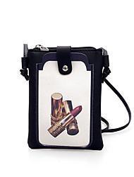 baratos -Mulheres Bolsas PU Leather Bolsa de Ombro Miçangas / Estampa para Festa / Eventos / Ao ar livre Branco / Preto