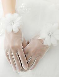 billiga -Nät Handledslängd Handske Blomstil / Brudhandske Med Blomma