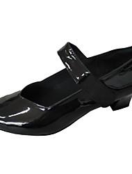 cheap -Men's / Women's Modern Shoes Leatherette Sandal / Heel Low Heel Customizable Dance Shoes Black