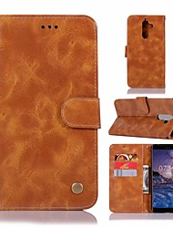 economico -Custodia Per Nokia Nokia 7 Plus A portafoglio / Porta-carte di credito / Con supporto Integrale Tinta unita Resistente pelle sintetica per
