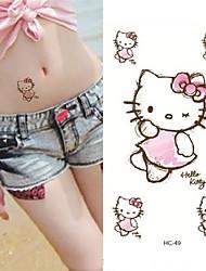 economico -Adesivo / Autoadesivo del tatuaggio braccio Tatuaggi temporanei 10 pcs Serie animali arti del corpo