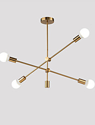 cheap -Modern Electroplated Pendant Lights With 4-Lights Fixture Flush Mount Living Room Dining Room Bedroom Chandelier