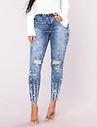 economico -Per donna Essenziale Moda città Da completo Jeans Pantaloni - Tinta unita