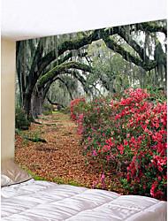 baratos -Tema Jardim Casamento Decoração de Parede Poliéster Moderna Modern Arte de Parede, Tapetes de parede Decoração