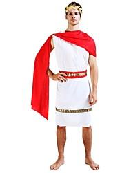 economico -Costumi antico Egitto Costume Per uomo Halloween Carnevale Capodanno Feste / vacanze Costumi Halloween Completi Bianco Tinta unita Halloween Halloween
