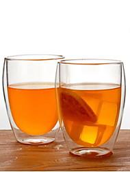 Недорогие -Drinkware стекло Стекло Теплоизолированные 2pcs