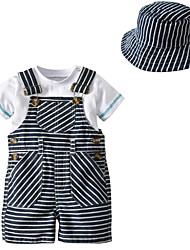 cheap -Baby Unisex Striped Short Sleeve Clothing Set