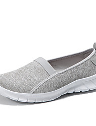cheap -Women's Shoes Knit / Synthetic Microfiber PU Summer Comfort Loafers & Slip-Ons Walking Shoes Flat Heel Round Toe Light Grey / Light Blue