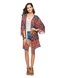 Недорогие -Жен. Блуза Классический Цветочный принт / Геометрический принт