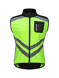 economico -WOSAWE Per uomo Senza maniche Gilet da ciclismo - Verde Bicicletta Canottiera / Gilet / Canotta / Maglietta / Maglia, Antivento, Strisce riflettenti