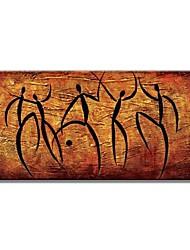 Недорогие -Hang-роспись маслом Ручная роспись - Абстракция Современный Modern Включите внутренний каркас / Растянутый холст