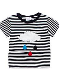 Недорогие -Дети / Дети (1-4 лет) Мальчики Полоски / Пэчворк С короткими рукавами Футболка