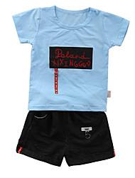 Недорогие -Дети / Дети (1-4 лет) Мальчики С принтом С короткими рукавами Набор одежды
