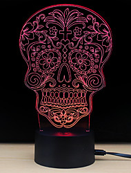 cheap -1pc 3D Nightlight Change USB Stress and Anxiety Relief / Decoration / Safety 5V