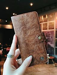 baratos -Capinha Para Samsung Galaxy S9 Plus / S9 Carteira / Porta-Cartão / Flip Capa Proteção Completa Sólido Rígida couro legítimo para S9 / S9 Plus