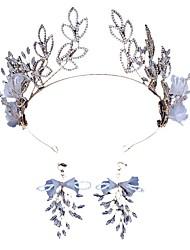 cheap -Alloy Tiaras / Drop Earrings / Headdress with Acrylic / Rhinestone 1 Piece Wedding / Carnival Headpiece
