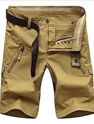 baratos -Homens Esportivo Shorts Calças - Sólido