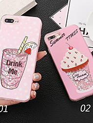 Недорогие -Кейс для Назначение Apple iPhone X Защита от удара Кейс на заднюю панель Слова / выражения / Мороженное / Сияние и блеск Твердый ПК для iPhone X / iPhone 8 Pluss / iPhone 8