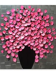 abordables -Peinture à l'huile Hang-peint Peint à la main - Nature morte A fleurs / Botanique Contemporain Moderne Toile