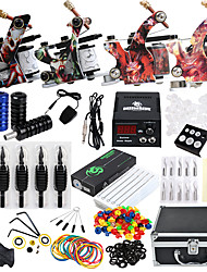 cheap -Solong Tattoo Tattoo Machine Professional Tattoo Kit 4 alloy machine liner & shader High Quality LCD power supply 2 x alloy grip 50