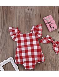 cheap -Baby Girls' Houndstooth Sleeveless Romper