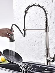 abordables -Robinet de Cuisine - Moderne Nickel brossé Débit Normal Set de centre