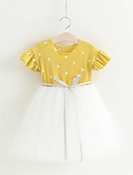 economico -Bambino (1-4 anni) Da ragazza A pois Manica corta Vestito