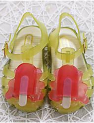 baratos -Para Meninas Sapatos PVC Verão Conforto / Plástico Sandálias para Amarelo / Vermelho / Azul