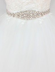 cheap -Satin / Tulle Wedding / Party / Evening Sash With Faux Pearl / Crystals / Rhinestones Women's Sashes