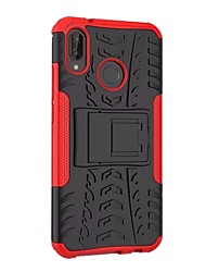 cheap -Case For Huawei P20 lite Shockproof with Stand Armor Back Cover Armor Hard PC for Huawei P20 lite
