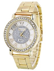 cheap -Women's Bracelet Watch Quartz Imitation Diamond Large Dial Alloy Band Analog Sparkle Creative Silver / Gold / Rose Gold - Gold Silver Rose Gold One Year Battery Life