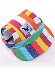 Недорогие -Собаки / Коты / Животные Шляпы, колпаки, банданы Одежда для собак Контрастных цветов / Мультипликация / Лозунг Черный / полоса /