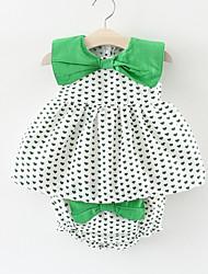 cheap -Baby Girls' Polka Dot Geometric Sleeveless Dress