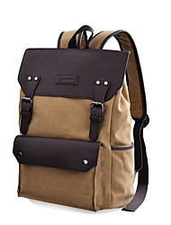 cheap -Women's Bags Canvas / leatherette Backpack Beading / Buttons Brown