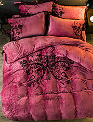 cheap -Duvet Cover Sets Contemporary Polyster Quilted 4 Piece