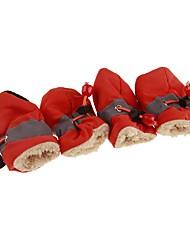 Недорогие -Собаки / Коты Ботинки / обувь для собак Спорт и отдых Однотонный Красный / Синий / Розовый Для домашних животных