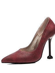 cheap -Women's Shoes PU(Polyurethane) Spring & Summer Basic Pump Heels Walking Shoes Stiletto Heel Pointed Toe Black / Wine / Light Brown