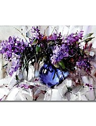 cheap -Oil Painting Hand Painted - Abstract / Floral / Botanical Comtemporary / Modern Canvas