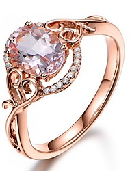 cheap -Synthetic Diamond Engagement Ring - Copper Ball Vintage, Bohemian, Holiday 6 / 7 / 8 Champagne For Party / Festival