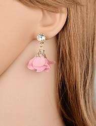 preiswerte -Tropfen-Ohrringe - Blume Modisch, Elegant Rot / Leicht Rosa Für Geschenk / Party