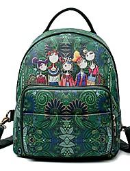 preiswerte -Damen Taschen PU Rucksack Reißverschluss Grün