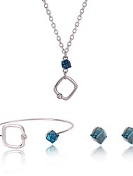 cheap -Women's Synthetic Sapphire Jewelry Set - Fashion, Elegant Include Silver For Birthday / Street / Earrings