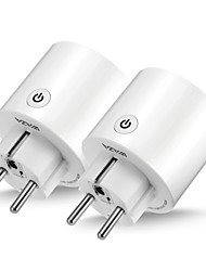 cheap -WAZA Smart Plug(EU) Mini Outlet Compatible with Amazon Alexa and Google Assistant, Wifi Enabled Remote Control Smart Socket with Timer Function, No Hub Required(2-Pack)
